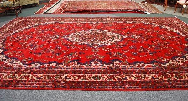 20: Persian Handmade Lilian Rug 1950's 10.9 x 17.6