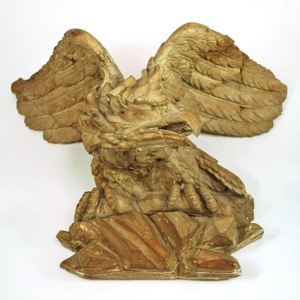 22: Well Carved Pine Figure of an Eagle 19th Century