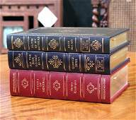 44: Three Leather Bound Books, Signed First Edition