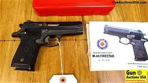 "INTERARMS Firestar .40 S&W Pistol. Like New. 3.5"""