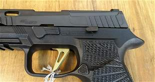 Sig Sauer P320 9mm Semi Automatic CUSTOM Pistol. Like