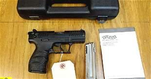 "Walther P22 22 LR Pistol. Like New. 3.5"" Barrel. Shiny"