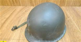 US Helmet . Good Condition. WWII Front Seam Fixed Veil
