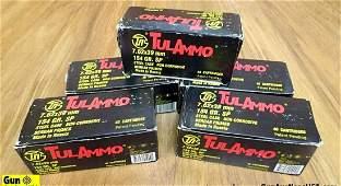 Tulammo 7.62x39 Ammo. 200 Rounds of 154 Gr SP, Steel