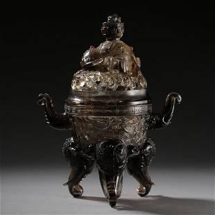 ANCIENT CHINESE CRYSTAL INCENSE BURNER