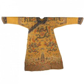 ANCIENT CHINESE COURT KESI EMBROIDERED DRAGON ROBE