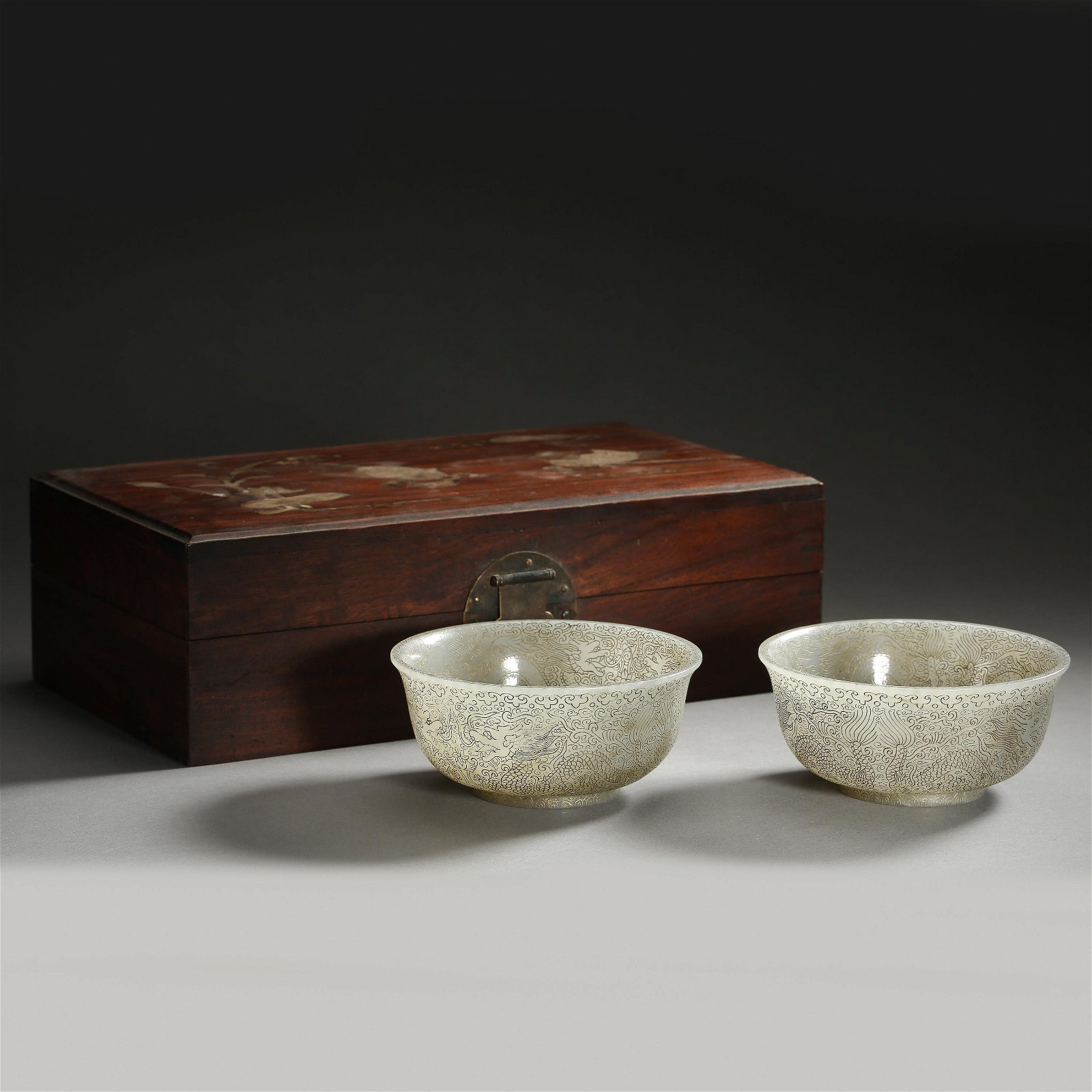 A PAIR OF ANCIENT CHINESE HETIAN JADE (NEPHRITE) BOWLS