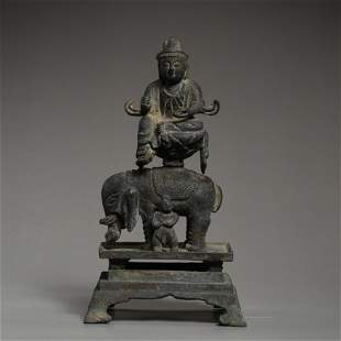 OLD CHINESE BRONZE SEATED BUDDHA STATUE