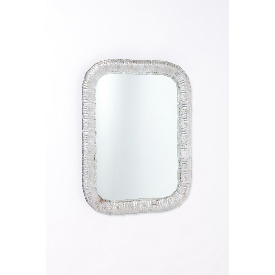 Venini (XX) Mirror Murano glass, painted wood and