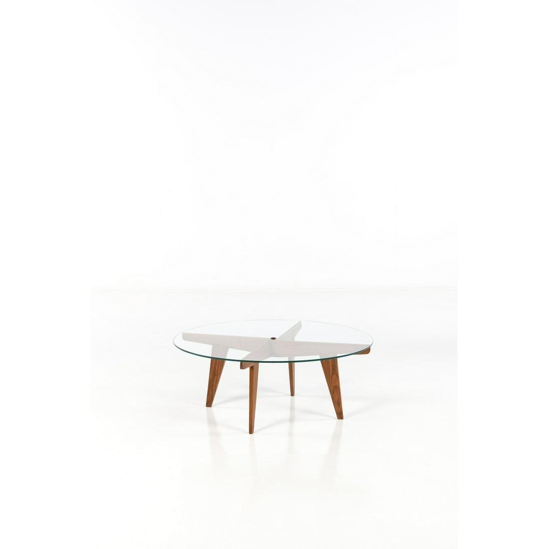 Gio Ponti (1891-1979) Coffee table Walnut wood and