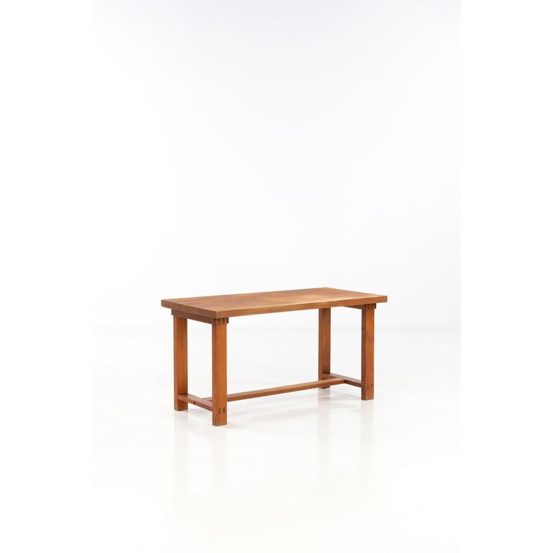 Pierre Chapo (1927-1987) Model no. T01 Table Elm wood