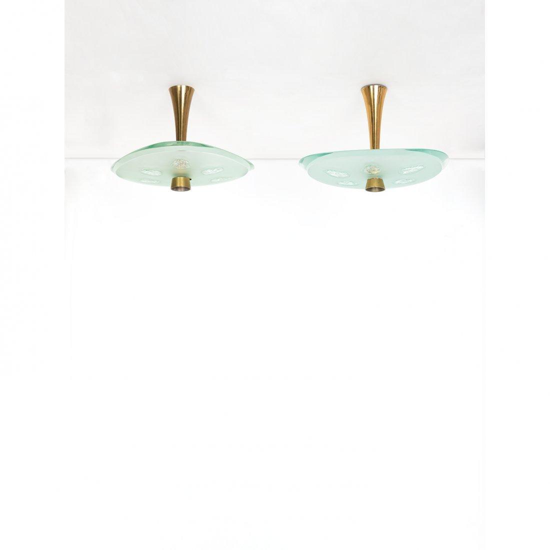 Max Ingrand (1908-1969) Model no. 1748 Pair of ceiling