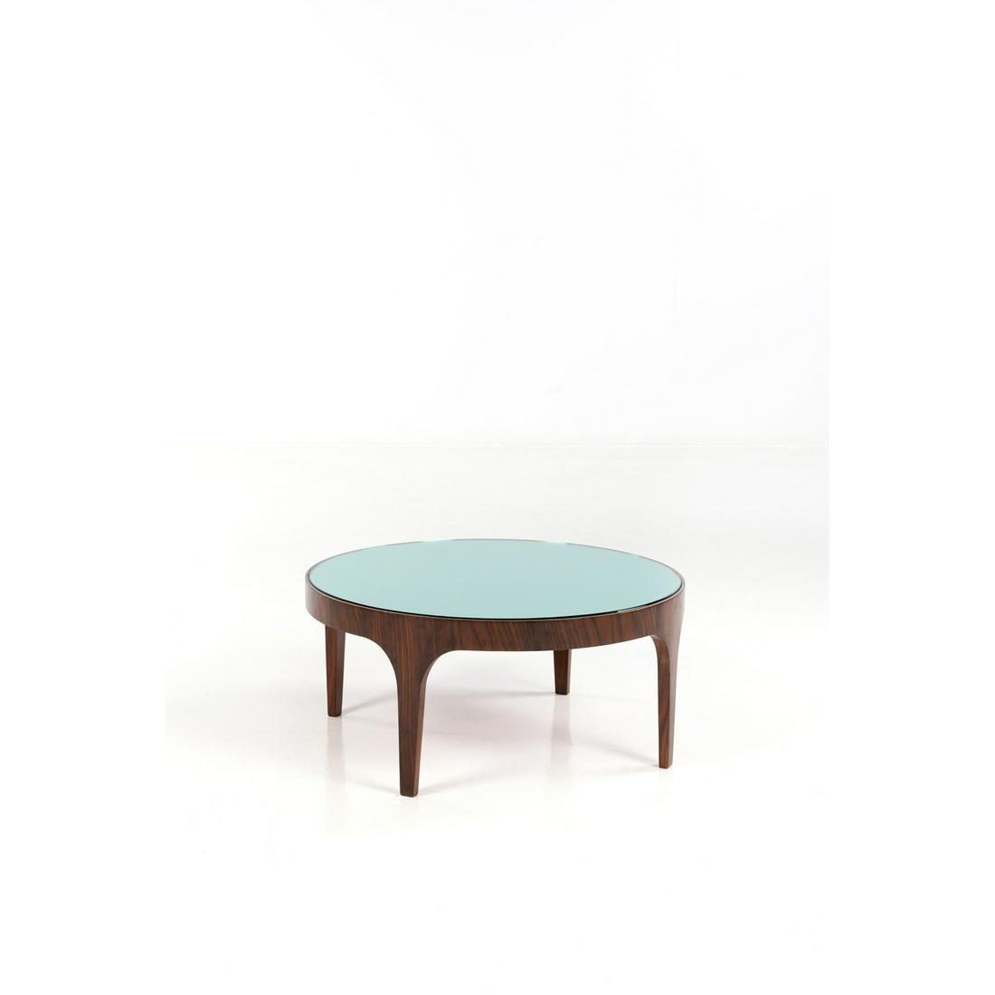 Fontana Arte (XX) Coffee table Wood and mirrored glass