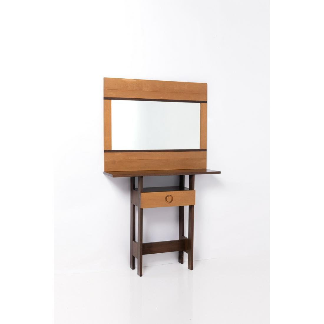 Ettore Sottsass (1917-2007) Totem Console and mirror