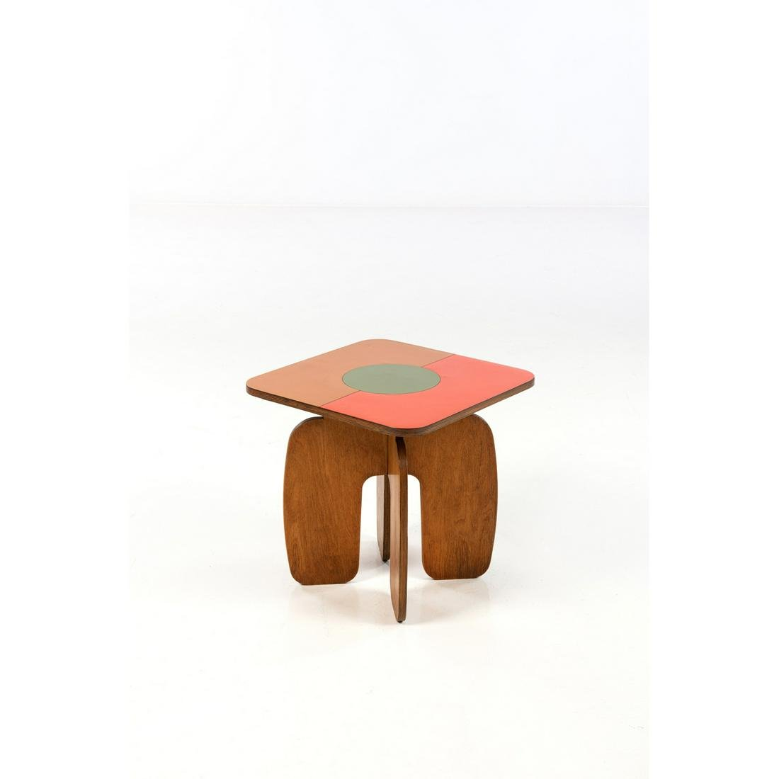 Ettore Sottsass (1917-2007) Side table Molded plywood