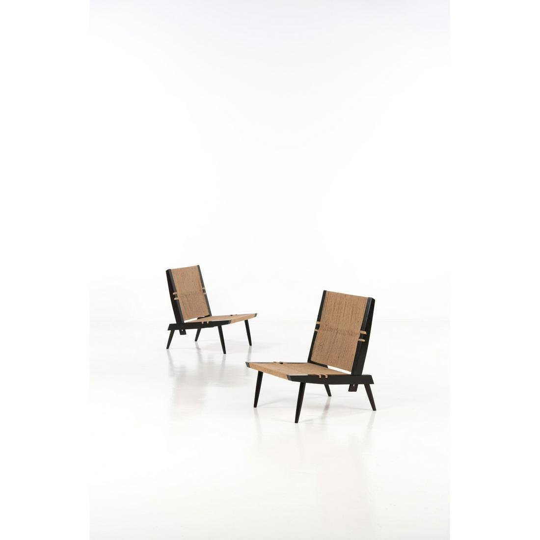 George Nakashima (1905-1990) Pair of lounge chairs