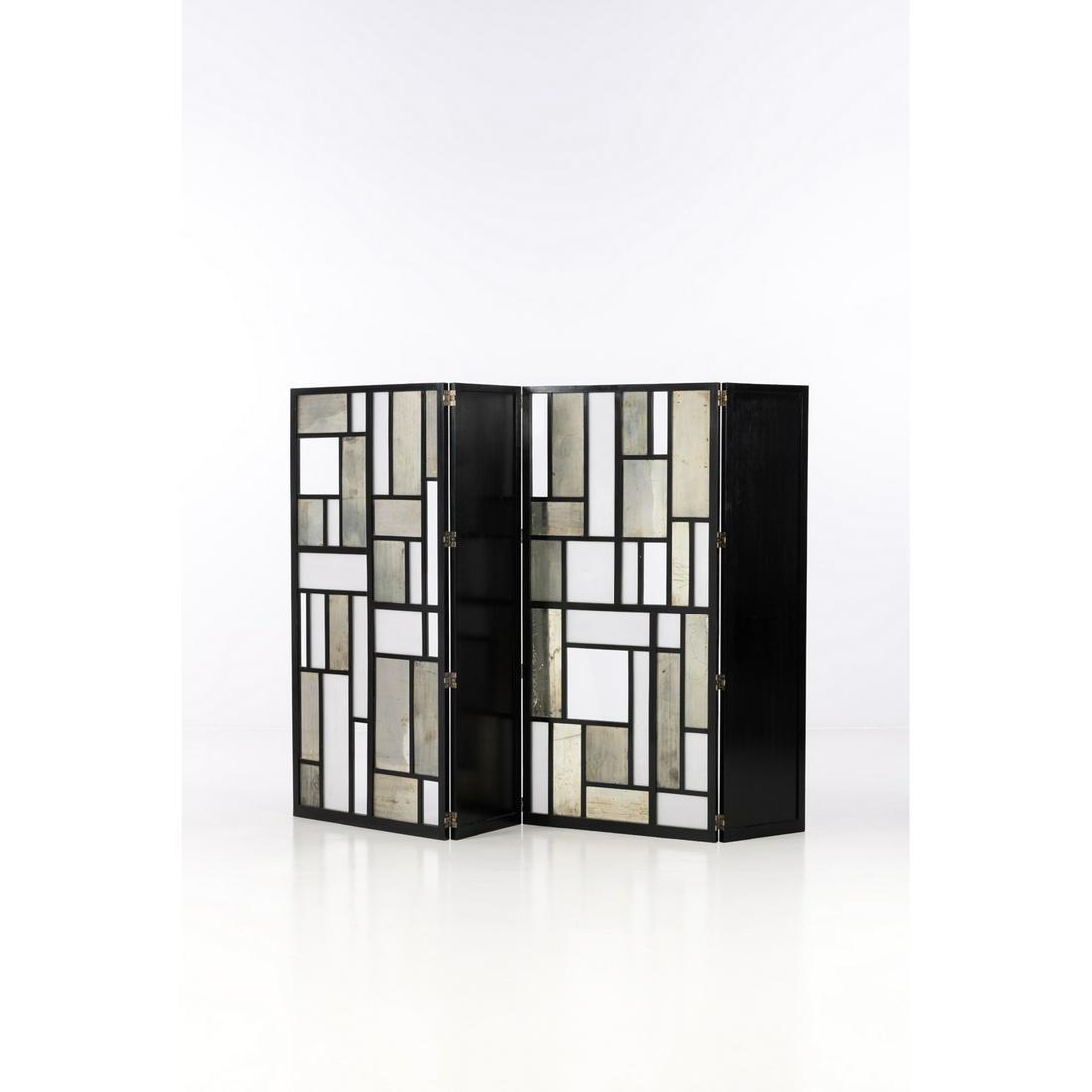 Carlo Scarpa (1906-1978) Four-leaved screen  Blackened