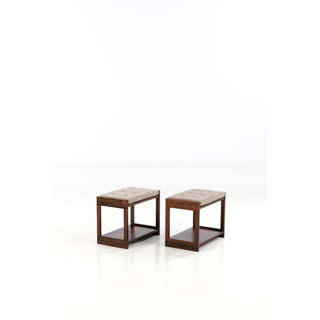 Grete Jalk (1920-2006) Pair of stools or side tables