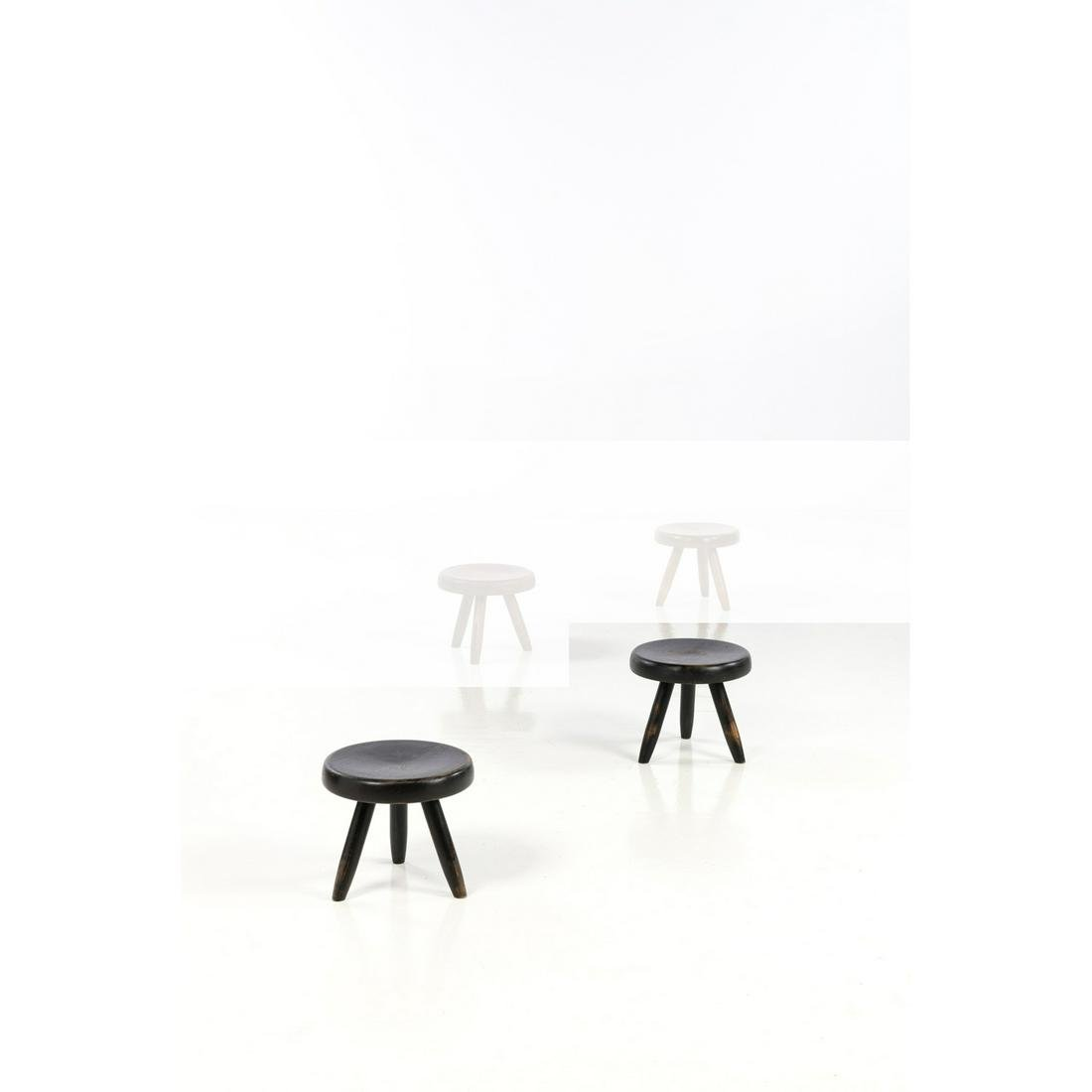 Charlotte Perriand (1903-1999) Berger Pair of stools
