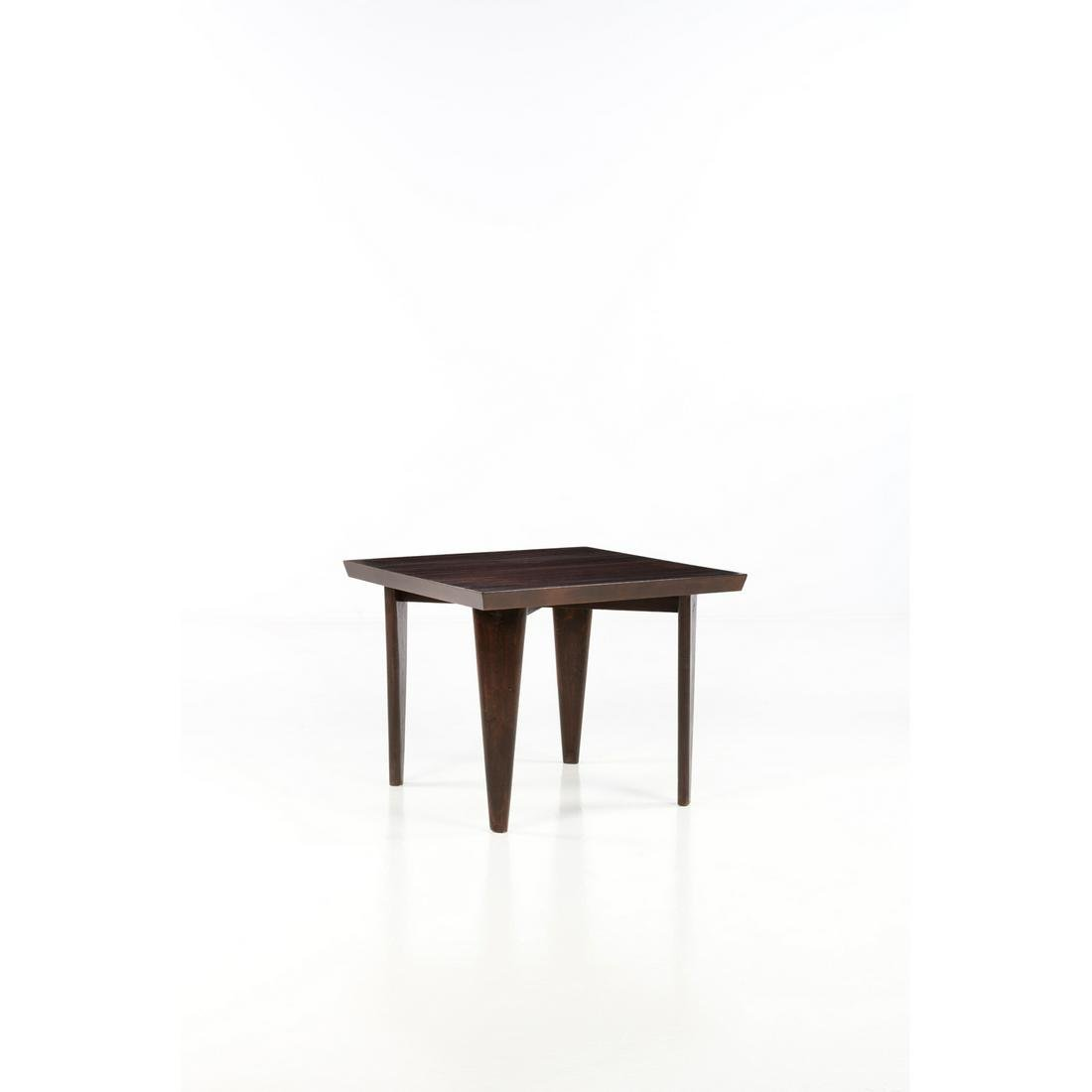 Pierre Jeanneret (1896-1967) Square table Table Teak