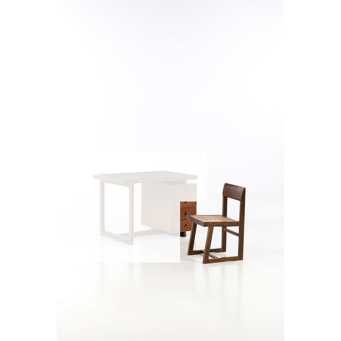 Pierre Jeanneret (1896-1967) Chair Teak and caning