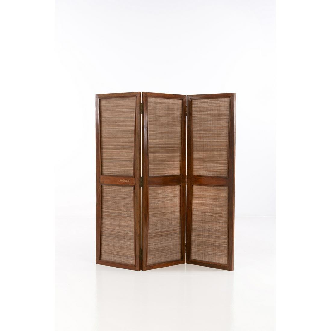 Pierre Jeanneret (1896-1967) Folding screen Teak and