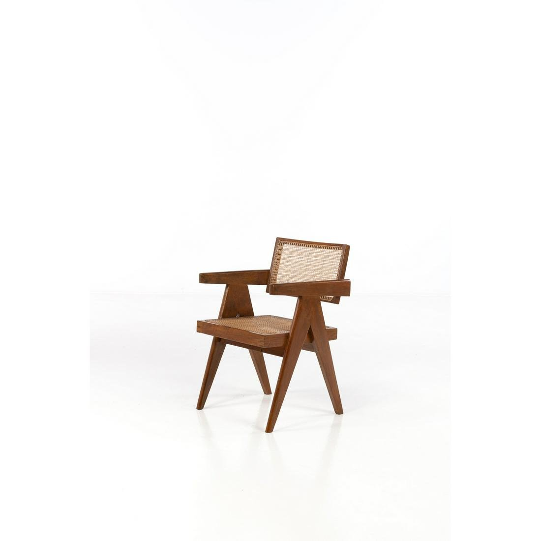 Pierre Jeanneret (1896-1967) Office chair Armchair Wood
