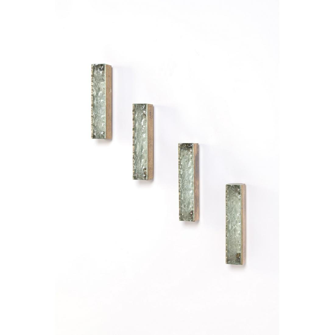 Max Ingrand (1908-1969) Set of four sconces Brass,