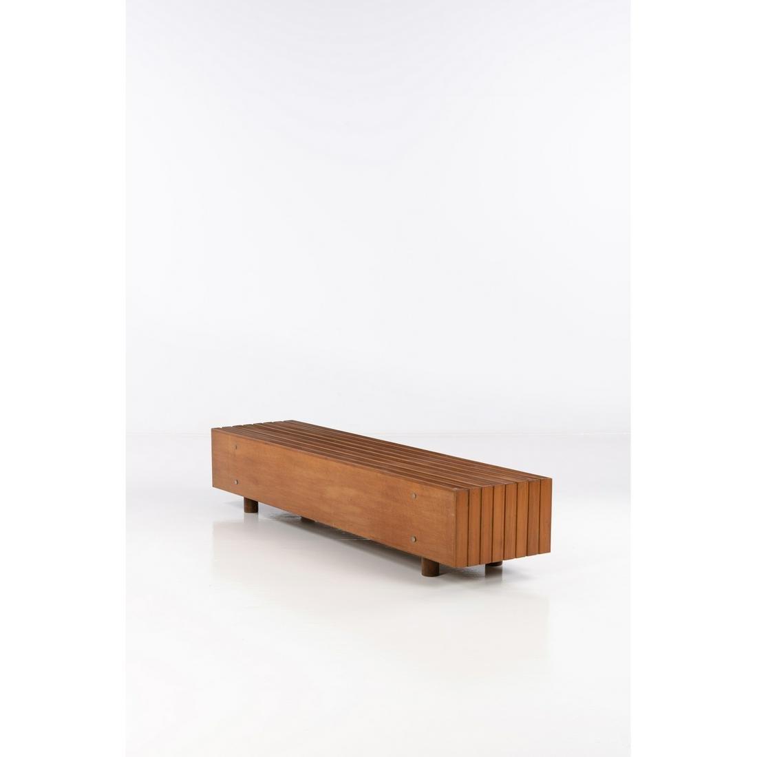 ƒ Sergio Rodrigues (1927-2014) Bench Veneer and