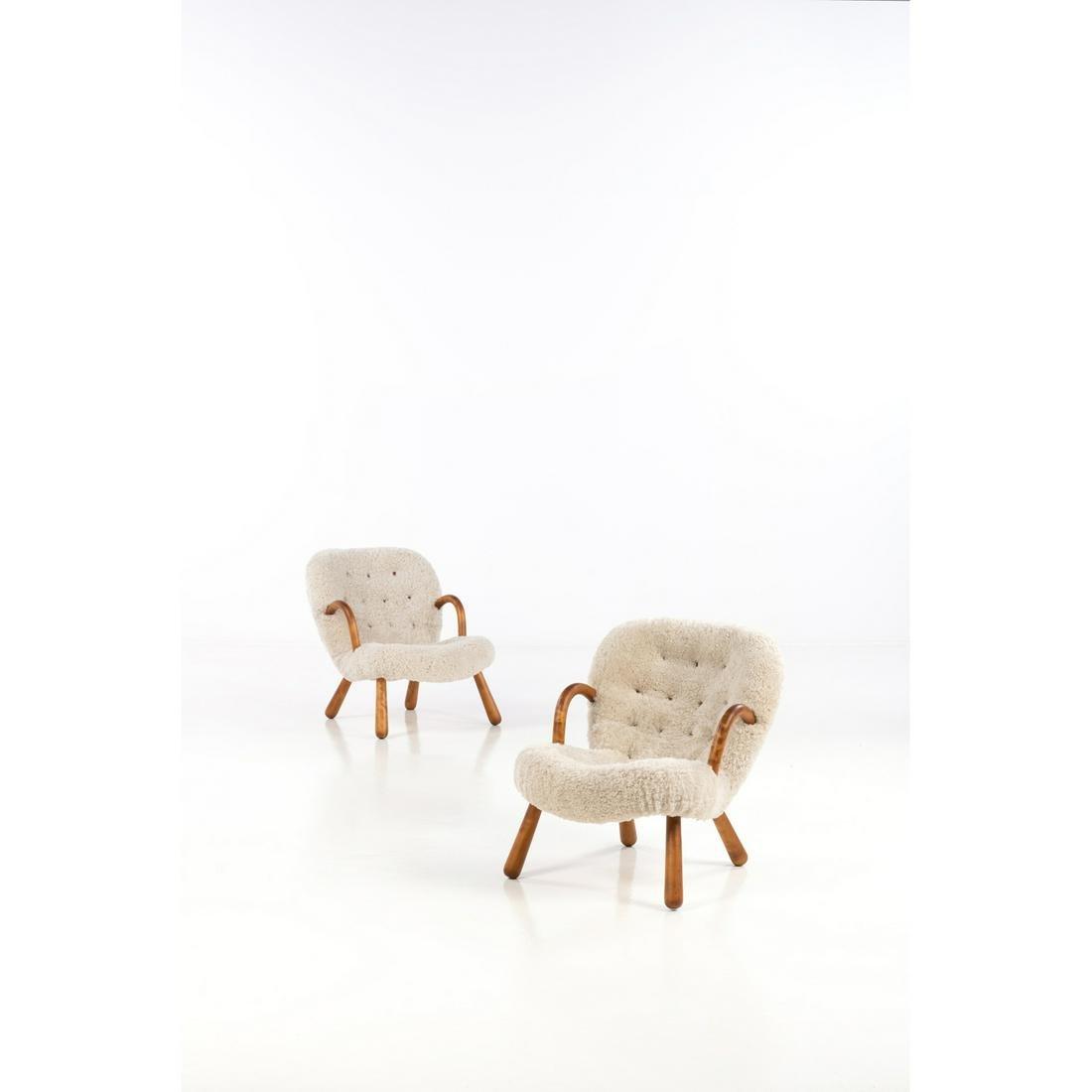 Philip Arctander (1916-1994) Clam Pair of armchairs