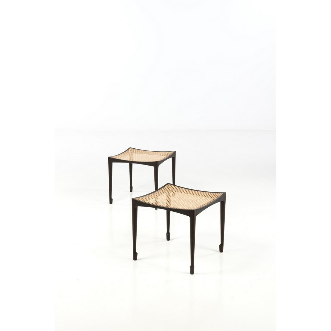 Bernt Petersen (1937-2017) Pair of stools Wenge and