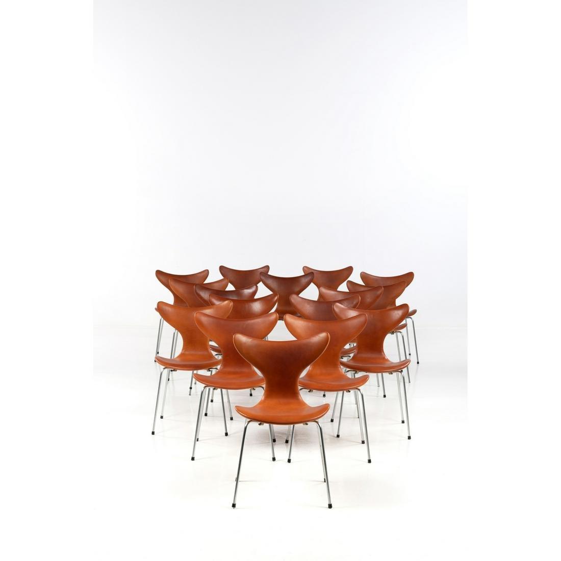 Arne Jacobsen (1902-1971) Model no. 3108 Set of sixteen