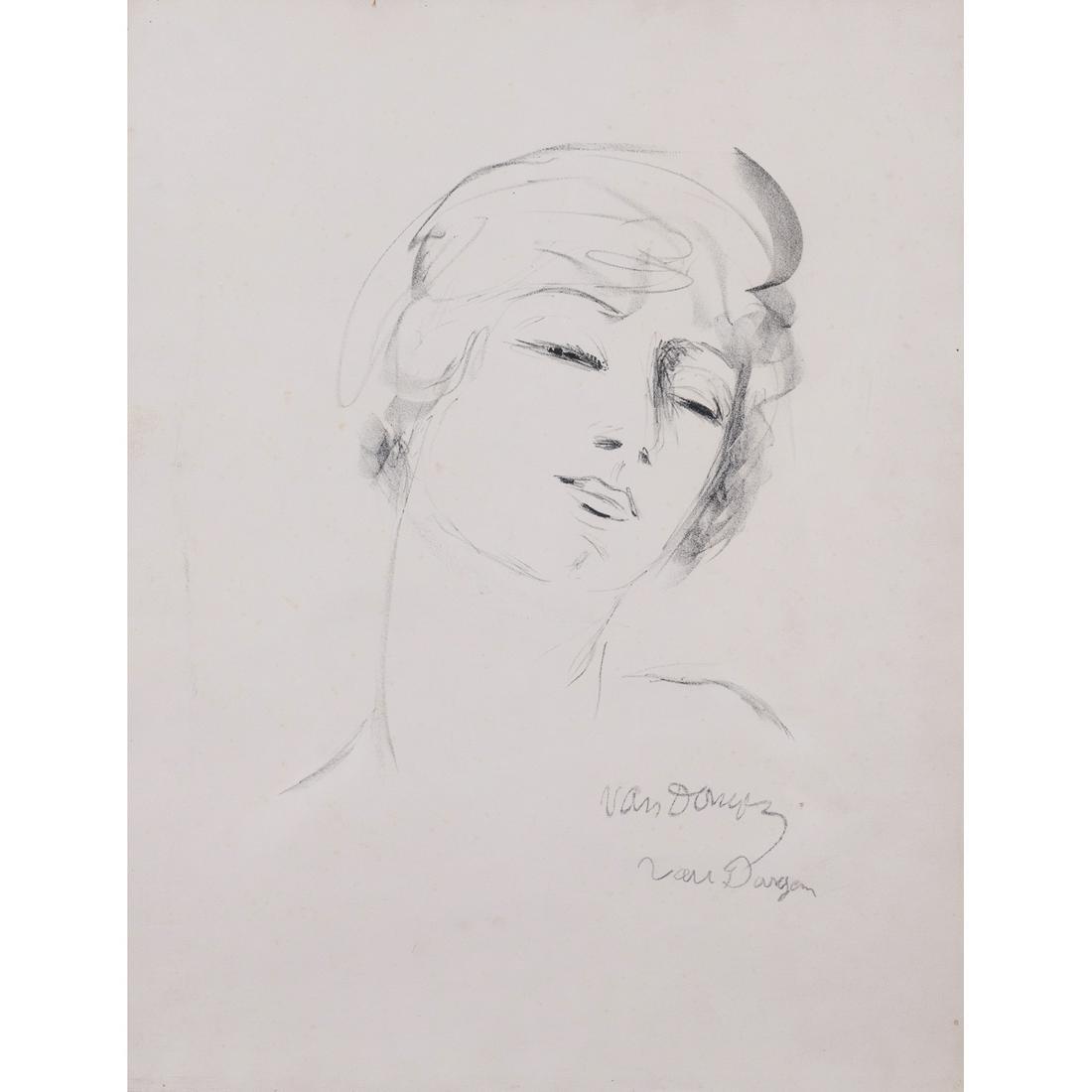 Kees Van Dongen (1877-1968) Jeune fille aux cheveux