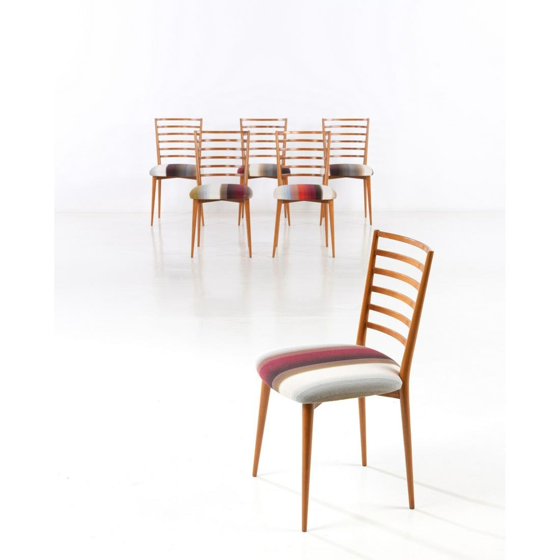 Joaquim Tenreiro (1906-1992) Set of six chairs