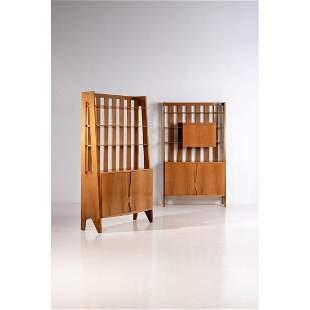 Ico Parisi (1916-1996) Pair of bookcases