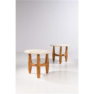 Pavel Novak (XX) Pair of pedestal tables