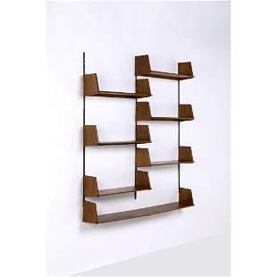 Marcel Gascoin (1907-1986) Set of seven wall shelves