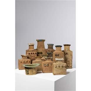 Curt-Magnus Addin (1931-2007) Set of onze vases