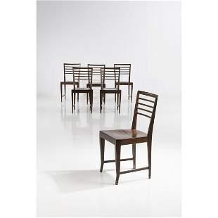 Gio Ponti (1891-1979) Set of six chairs