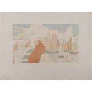 Théo van Rysselberghe (1862-1926) Sur la jetée -1899