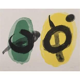 Joan Miró (1893-1983) Jaune et vert - 1961