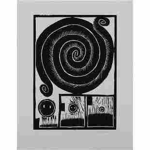 Æ' Pierre Alechinsky (born 1927) Spirale - 1973