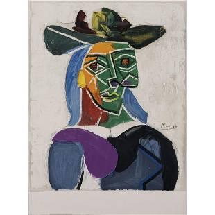 Pablo Picasso (1881-1973) (after) Tête de femme au
