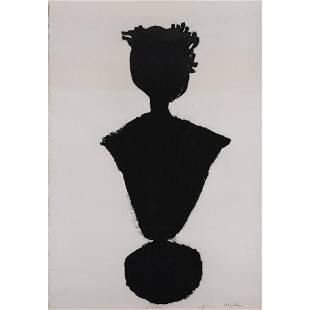 Michel Haas (1934-2019) Black ink monotype on