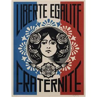 Obey (Shepard Fairey) Liberté, Egalité, Fraternité -