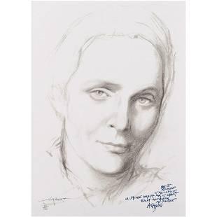 Ernest Pignon-Ernest (born 1942) Elsa (portrait d'Elsa
