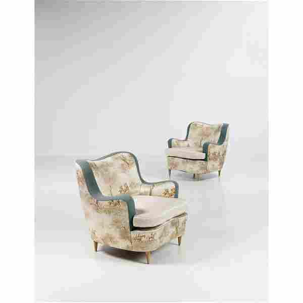 Gio Ponti (1891-1979) Pair of armchairs