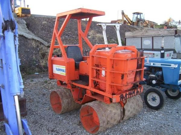 23: RAMMAX VIBRATORY RIDE ON TRENCH ROLLER