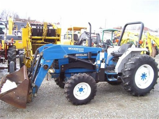 160: FORD NEW HOLLAND 2120 4WD TRACTOR W/LOADER