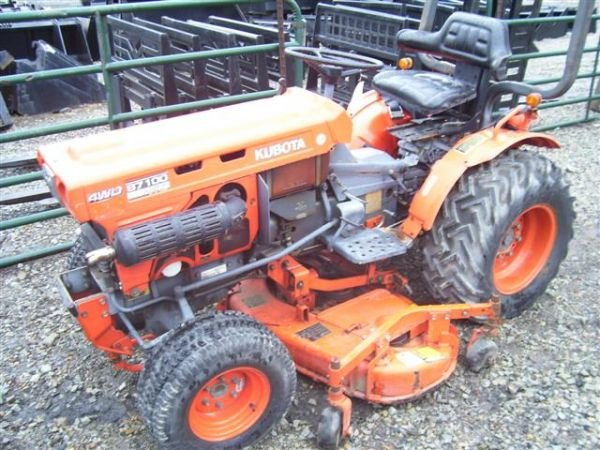 63: KUBOTA B7100 TRACTOR WITH BELLY MOWER 4WD - 2